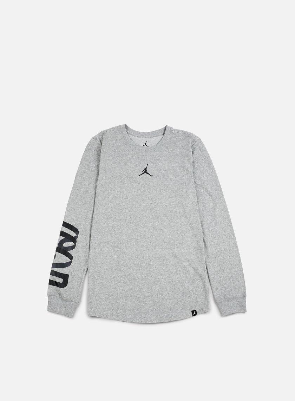 Jordan - Air Up 23 LS Dri-Fit T-shirt, Dark Grey Heather
