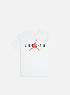 Jordan - Air Wordmark T-shirt, White/Infrared 23