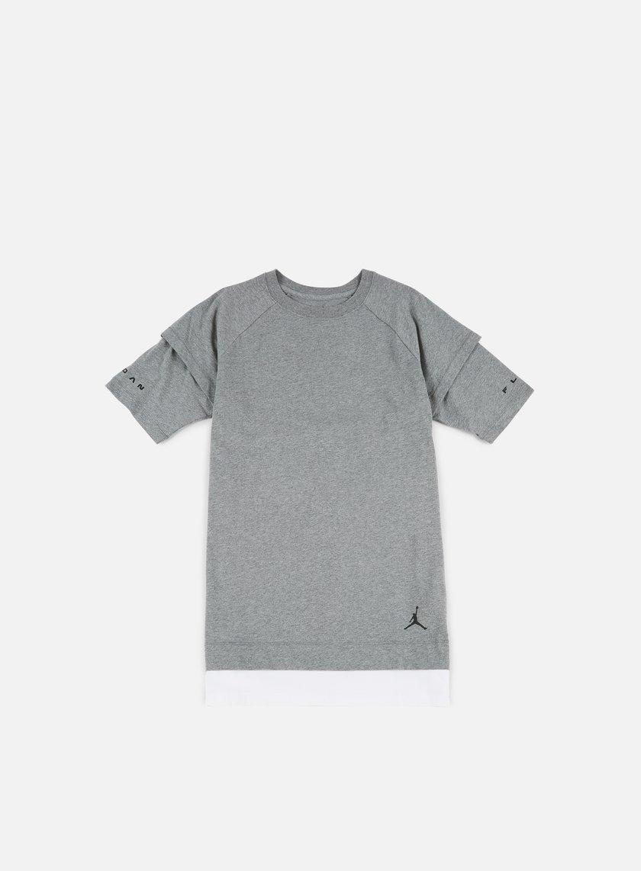 Jordan - AJ13 Double Layer T-shirt, Carbon Heather/White