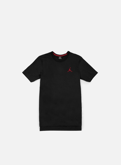 t shirt jordan core long t shirt black gym red