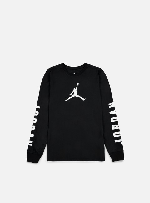 t shirt jordan flight 23 ls dri fit t shirt black white