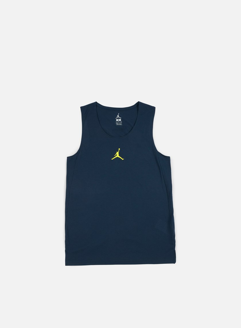 Jordan - Flight Basketball Jersey, Armory Navy/Electrolime