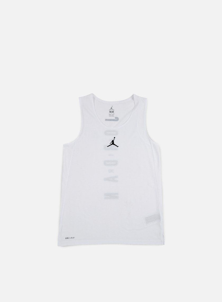 Jordan - Flight Basketball Jersey, White/Black