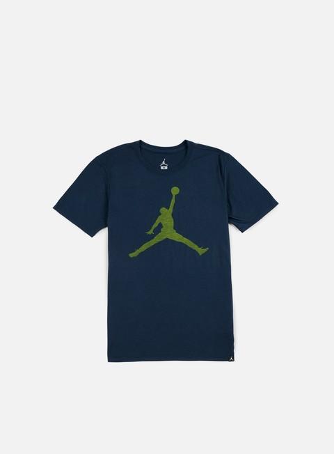 t shirt jordan iconic jumpman t shirt armory navy electrolime