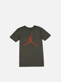 Jordan - Iconic Jumpman T-shirt, Dark Anthracite Heather/Max Orange