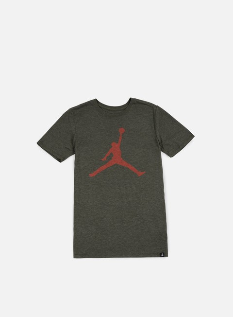 t shirt jordan iconic jumpman t shirt dark anthracite heather max orange