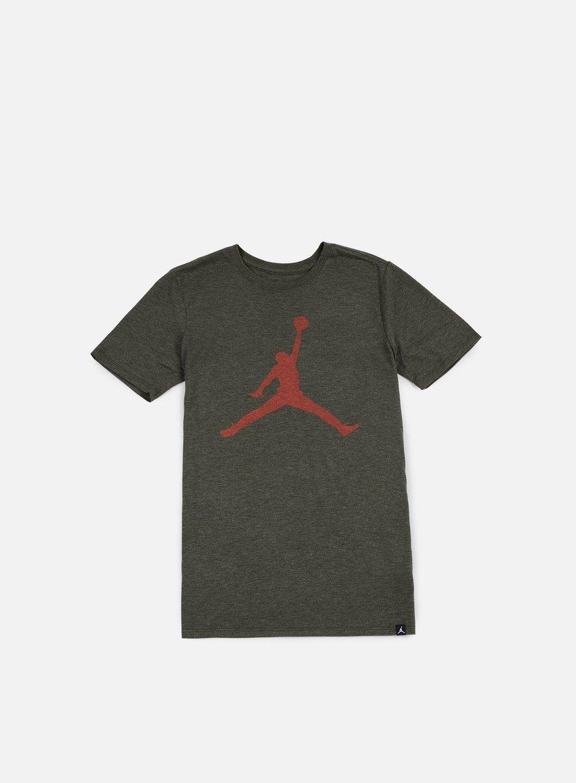 Jordan - Iconic Jumpman T-shirt, Dark Anthracite Heather/Max Orange