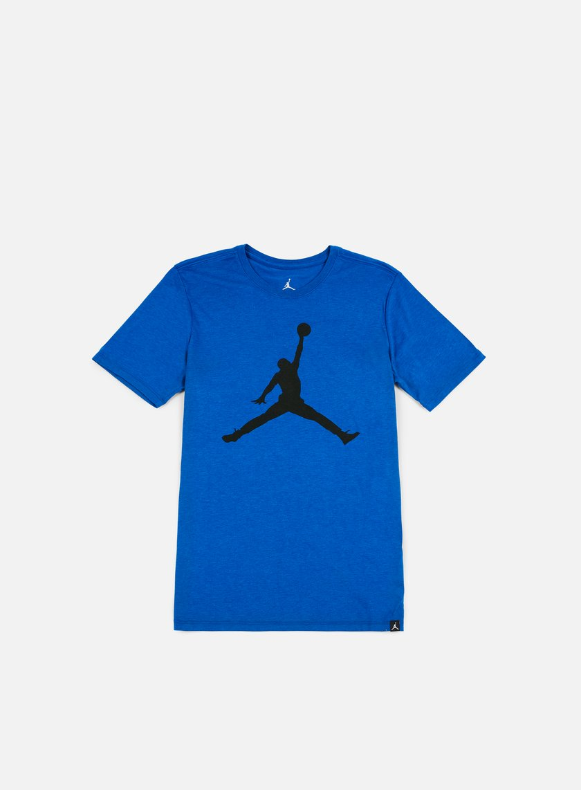 Jordan iconic jumpman t shirt team royal black 20 30 for Jordan royal 1 shirt