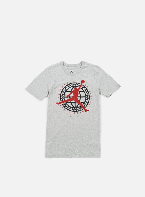 t shirt jordan in pursuit of t shirt dark grey heather gym red