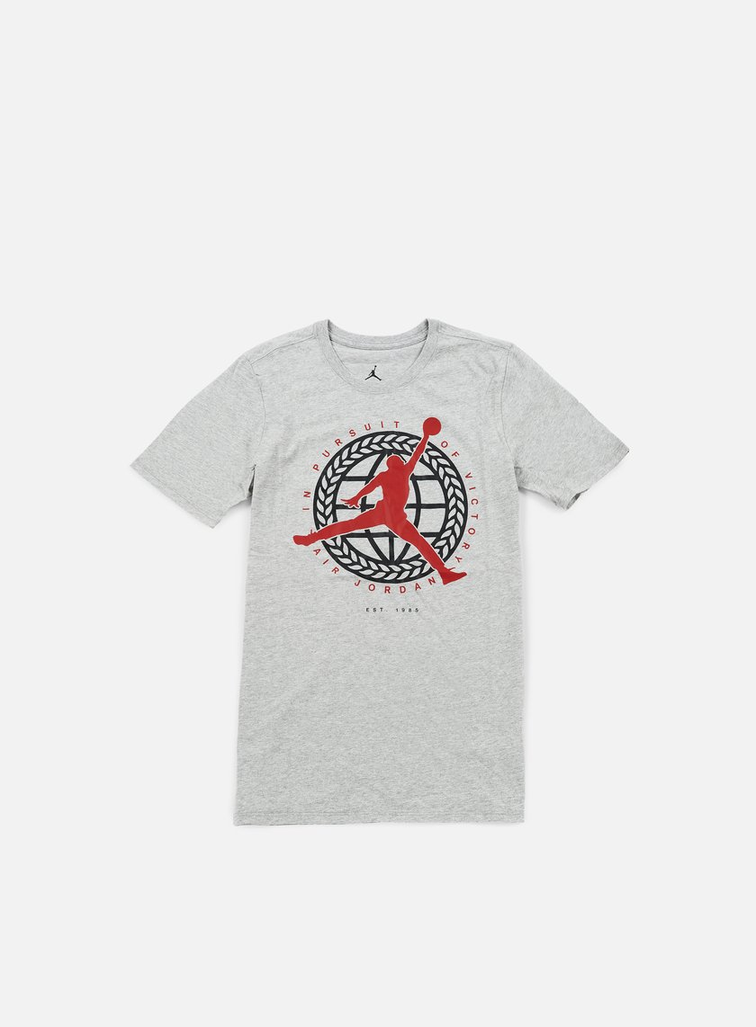 Jordan - In Pursuit Of T-shirt, Dark Grey Heather/Gym Red