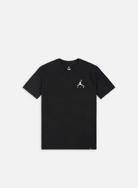 t shirt jordan jumpman air emrboidery t shirt black white