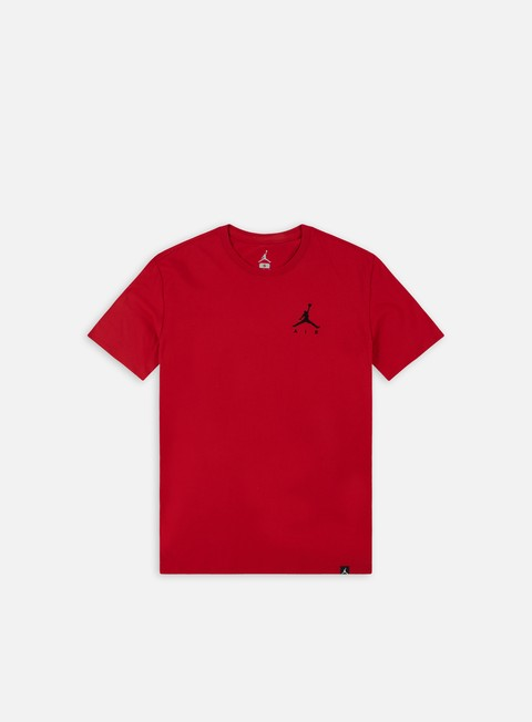 t shirt jordan jumpman air emrboidery t shirt gym red black