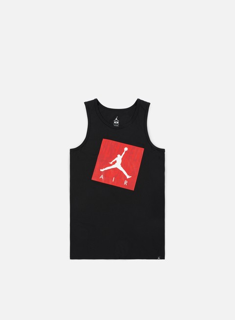 t shirt jordan jumpman air tank top black white