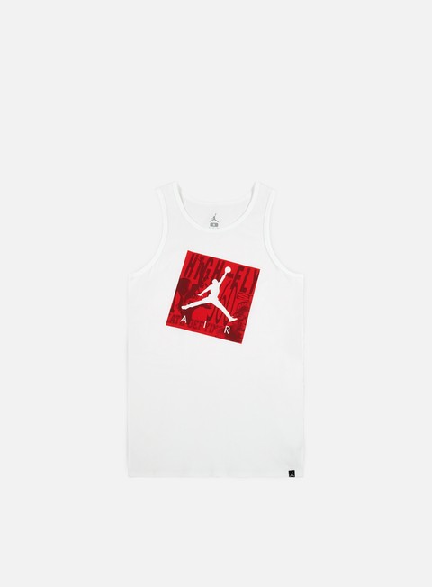 t shirt jordan jumpman air tank top white white