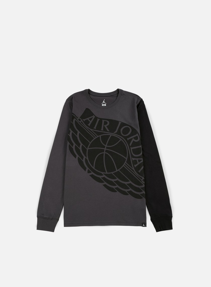 Jordan - Stretched Wings LS T-shirt, Anthracite/Black