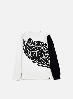 Jordan - Stretched Wings LS T-shirt, White/Black 1