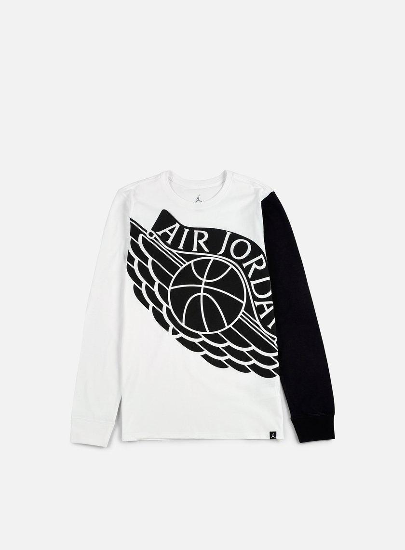 Jordan - Stretched Wings LS T-shirt, White/Black