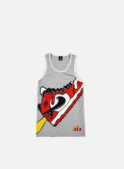 t shirt jordan sundae tank dark grey heather white