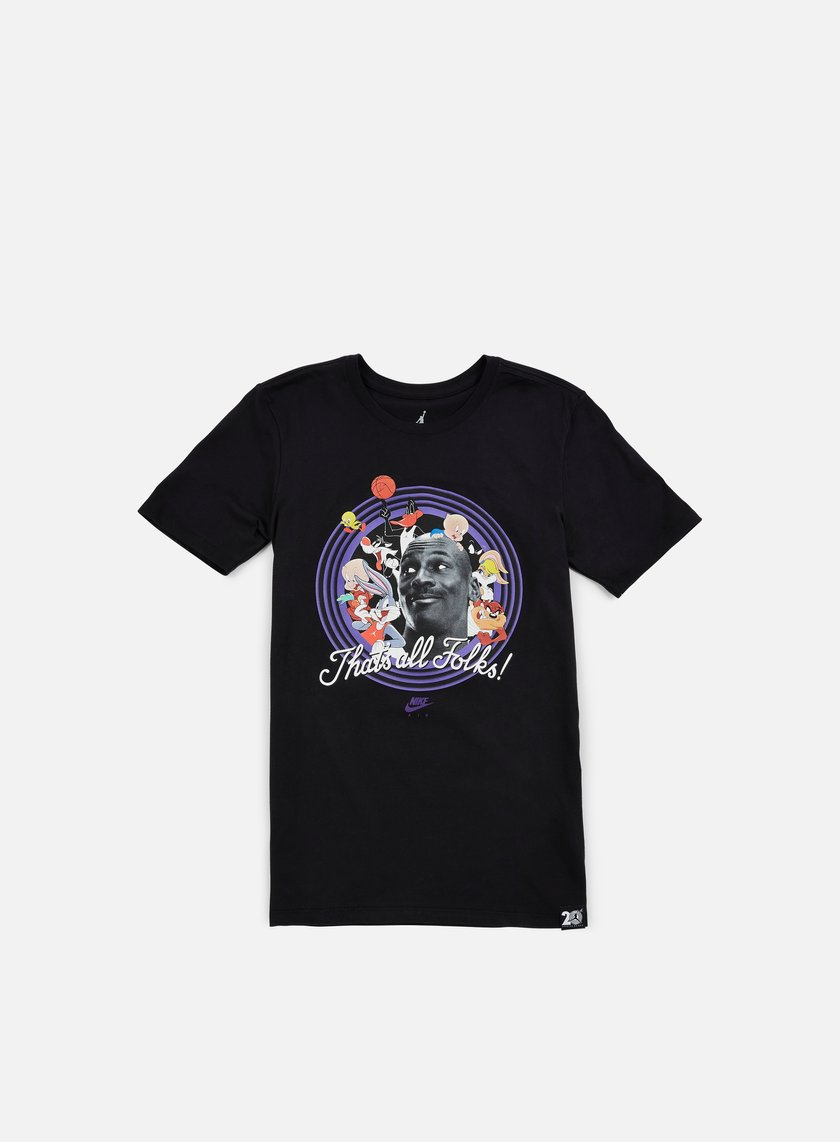 Jordan - That's All Folks T-shirt, Black/Concord