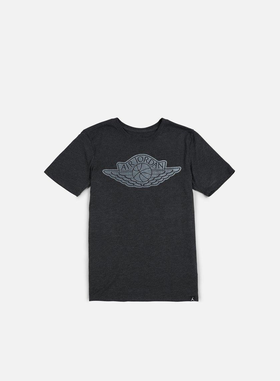Jordan - The Iconic Wings T-shirt, Black Heather/White