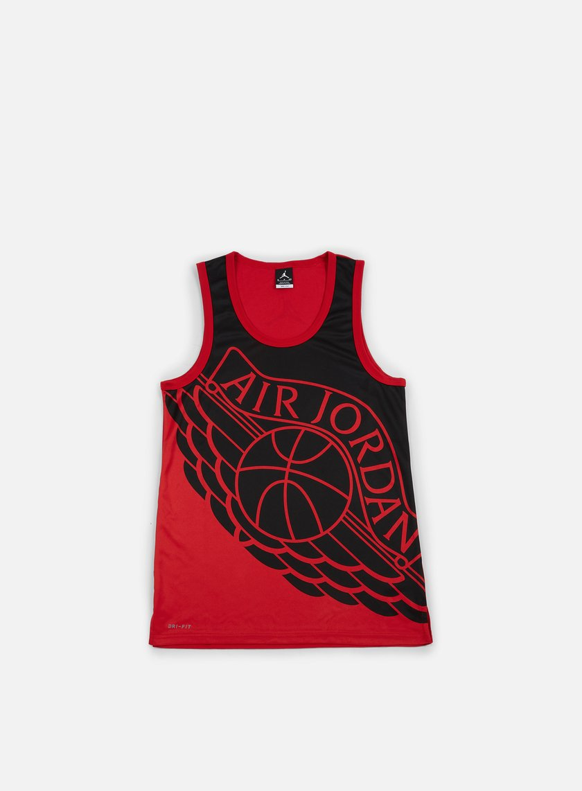 Jordan - Wings Blackout Tank Top, Black/Black