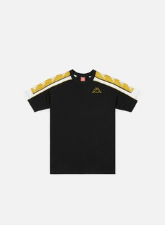 Kappa - 222 Banda 10 Arset T-shirt, Black/White/Gold