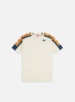 Kappa - 222 Banda 10 Arset T-shirt, White Antique/Blue/Bronze