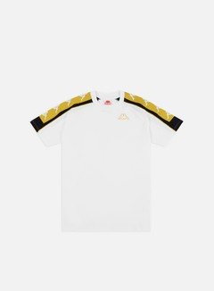 Kappa - 222 Banda 10 Arset T-shirt, White/Yellow Gold