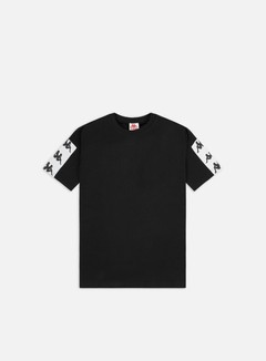 Kappa - 222 Banda 10 Cozy T-shirt, Black/White/Black