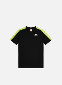 Kappa - 222 Banda Coen Slim T-shirt, Black/Lime/White