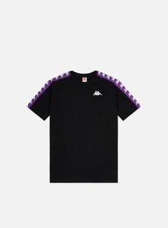 Kappa - 222 Banda Coen Slim T-shirt, Black/Violet Indigo