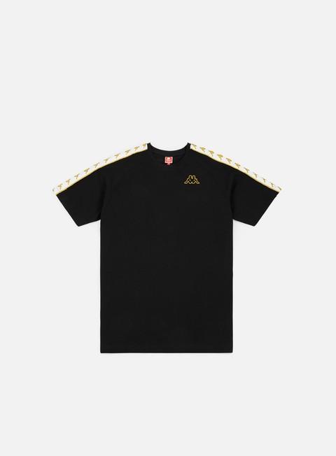t shirt kappa 222 banda coen slim t shirt black white gold