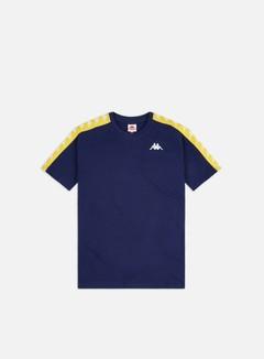 Kappa - 222 Banda Coen Slim T-shirt, Blue Md/Yellow
