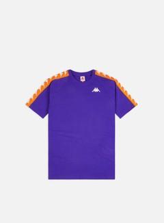 Kappa - 222 Banda Coen Slim T-shirt, Blue Royal/Orange