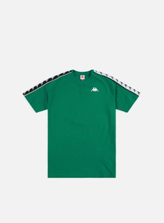 Kappa - 222 Banda Coen Slim T-shirt, Green/Black/White