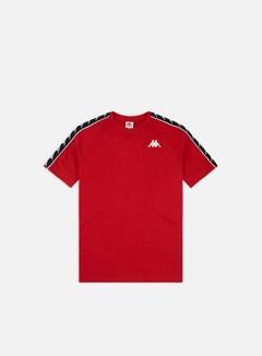 Kappa - 222 Banda Coen Slim T-shirt, Red/Black