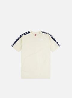 Kappa - 222 Banda Coen Slim T-shirt, White Antique/Blue Md