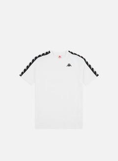 Kappa - 222 Banda Coen Slim T-shirt, White/Black