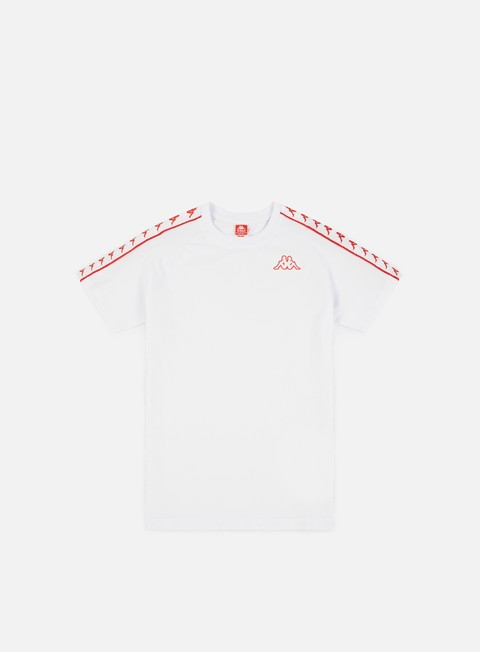 t shirt kappa 222 banda coen slim t shirt white red flame