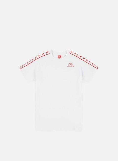 t shirt kappa 222 banda coen slim t shirt white red flame