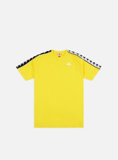 Kappa - 222 Banda Coen Slim T-shirt, Yellow/Black/White