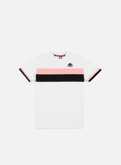 t shirt kappa authentic rey t shirt white black pink