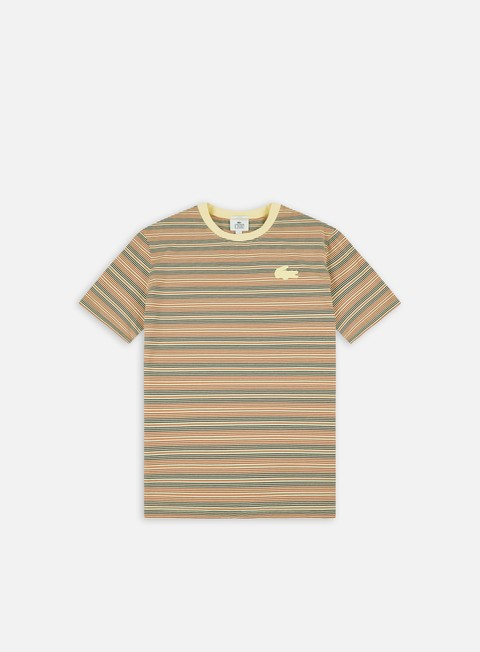 Short Sleeve T-shirts Lacoste Live Silicon Crocodile Striped T-shirt