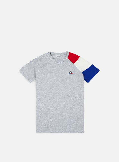 t shirt le coq sportif tricolore bbr n 2 t shirt gris chine clair