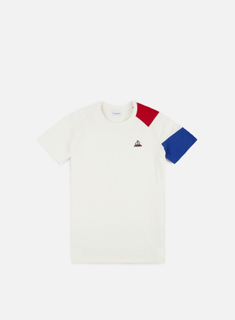 t shirt le coq sportif tricolore bbr n 2 t shirt marshmallow