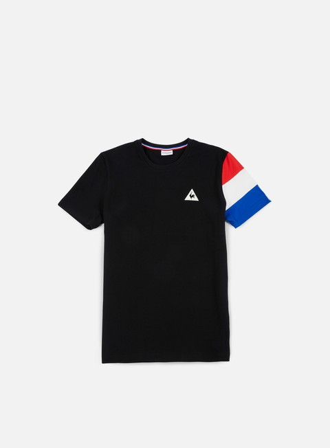 t shirt le coq sportif tricolore bbr t shirt black marshmallow