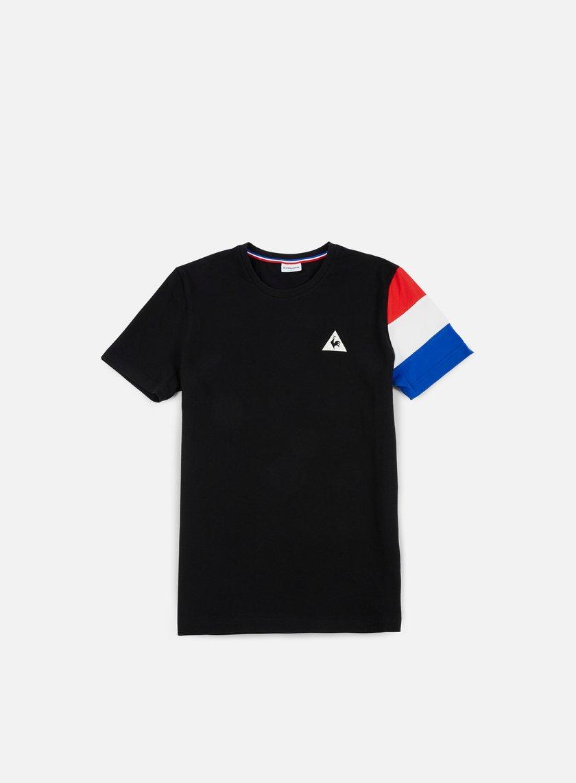 Le Coq Sportif - Tricolore BBR T-shirt, Black/Marshmallow