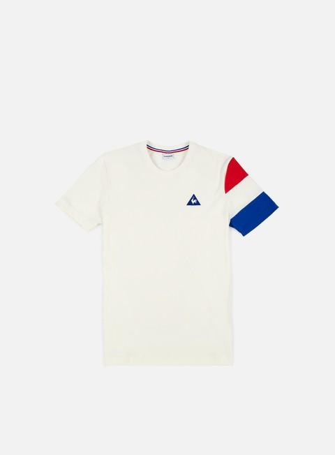 t shirt le coq sportif tricolore bbr t shirt marshmallow