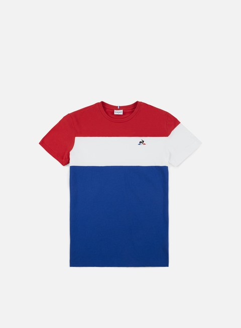 t shirt le coq sportif tricolore t shirt pure rouge new optical white