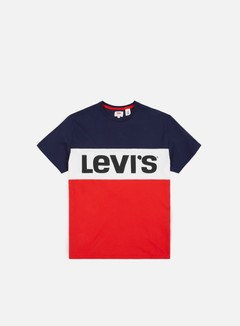 Levi's - Colorblock T-shirt, Navy/White/Red